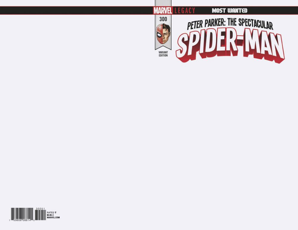 Peter Parker: The Spectacular Spider-Man #300 (Blank Cover)
