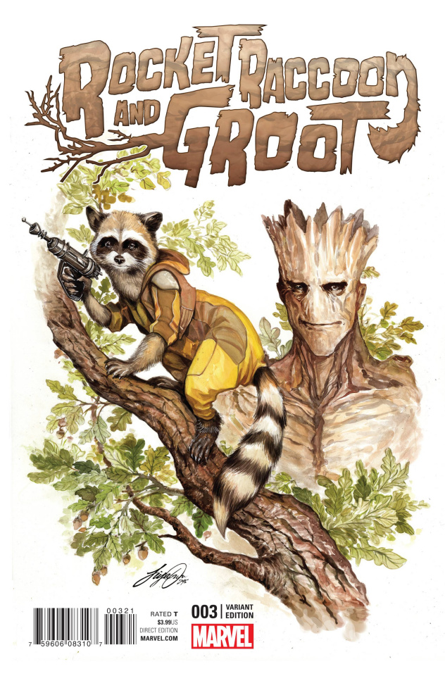 Rocket Raccoon and Groot #3 (Oum Cover)