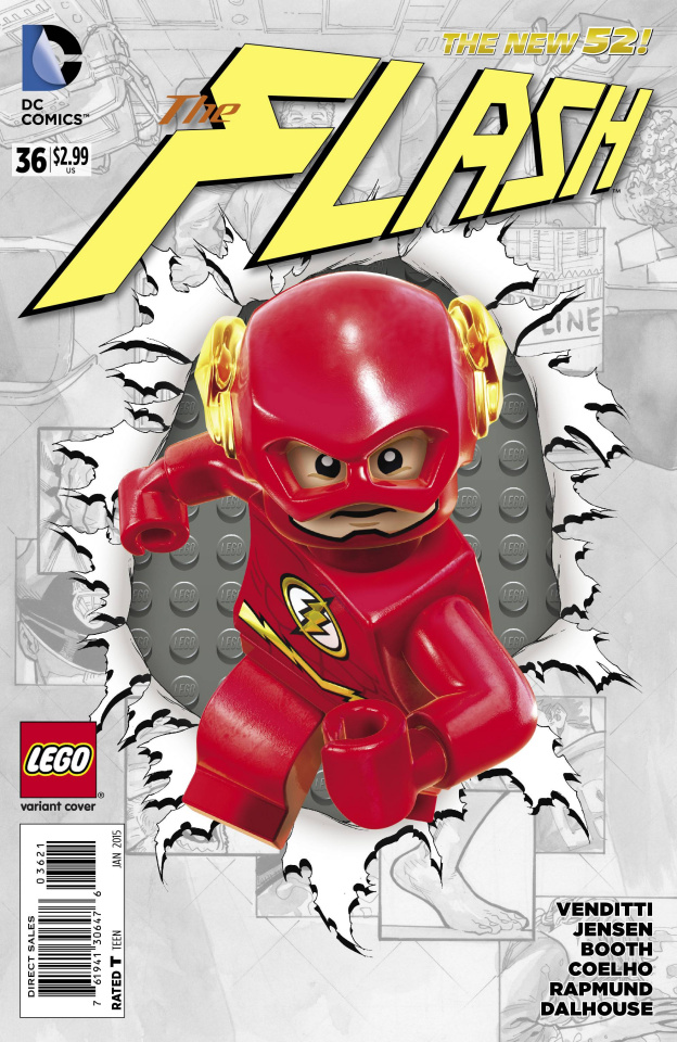 The Flash #36 (Lego Cover)