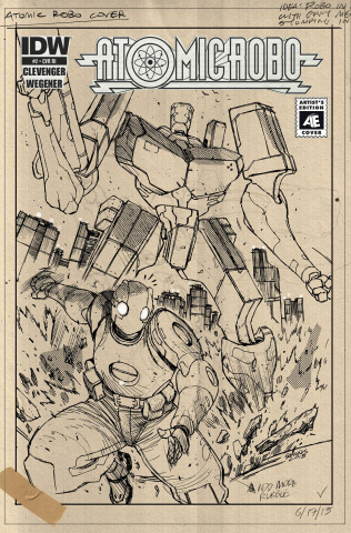 Atomic Robo and The Ring of Fire #2 (10 Copy Cover)