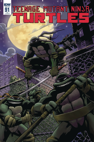 Teenage Mutant Ninja Turtles #91 (10 Copy Moline Cover)