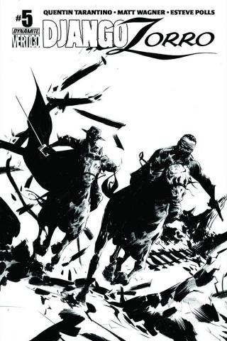Django / Zorro #5 (25 Copy Lee B&W Cover)