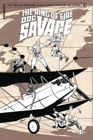 Doc Savage: The Ring of Fire #2 (10 Copy B&W Cover)