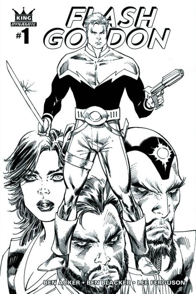 Flash Gordon #1 (35 Copy Liefeld B&W Cover)