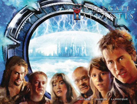 Stargate Atlantis: Back to Pegasus #1 (Wrap Subscription Cover)