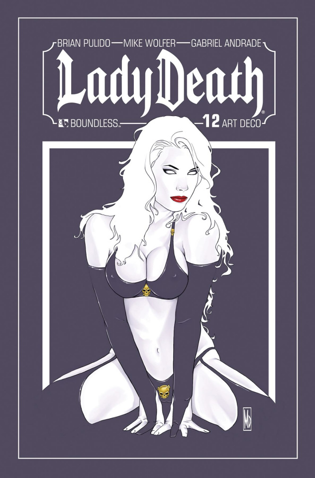 Lady Death #12 (Art Deco Variant Cover)