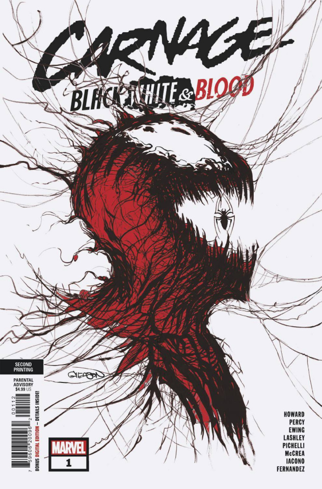 Carnage: Black, White, and Blood #1 (Gleason 2nd Printing)