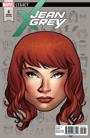 Jean Grey #8 (McKone Legacy Headshot Cover)