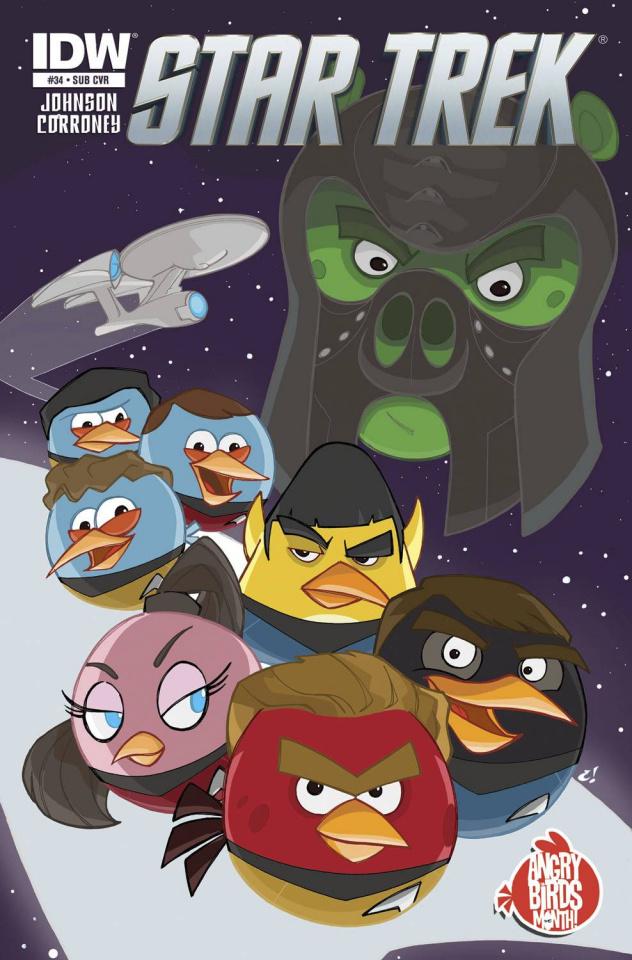 Star Trek #34 (Angry Birds Cover)