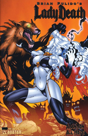Lady Death: Abandon All Hope #3 (Platinum Foil Cover)