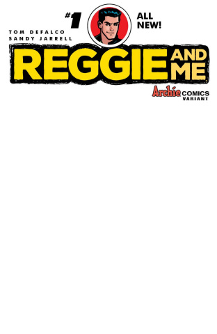Reggie and Me #1 (Blank Sketch Cover)