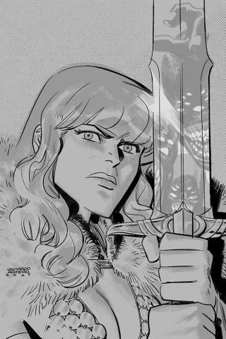 Vampirella / Red Sonja #8 (15 Copy Romero B&W Virgin Cover)