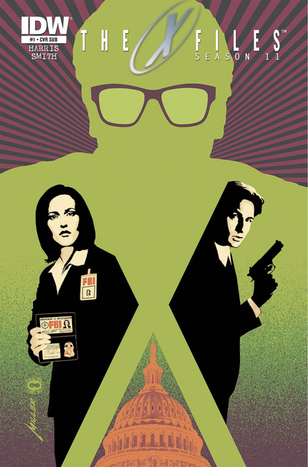 The X-Files, Season 11 #1 (Miller Subscription Cover)