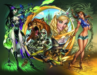 Grimm Fairy Tales: Oz #1 (Campbell Wraparound Cover)