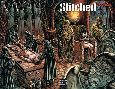 Stitched: Terror #3 (Wrap Cover)
