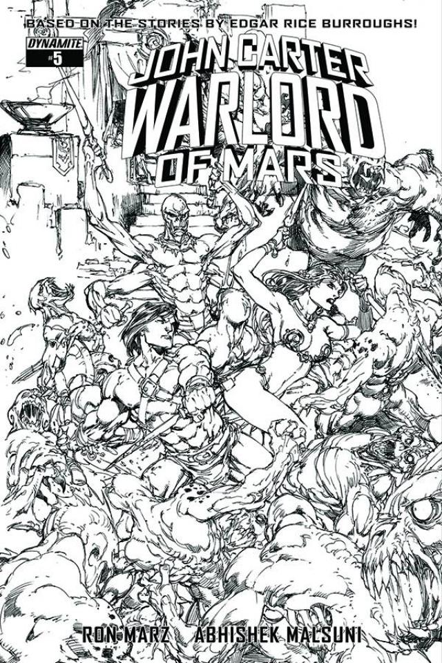 John Carter: Warlord of Mars #5 (20 Copy Benes B&W Cover)