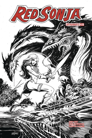Red Sonja #23 (30 Copy Mandrake B&W Cover)