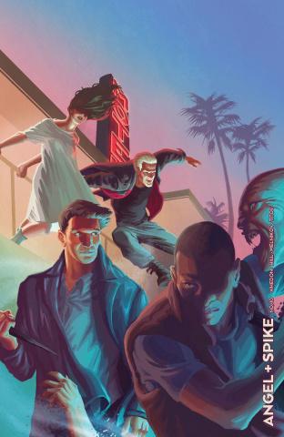 Angel & Spike #10 (Noir Barahona Cover)