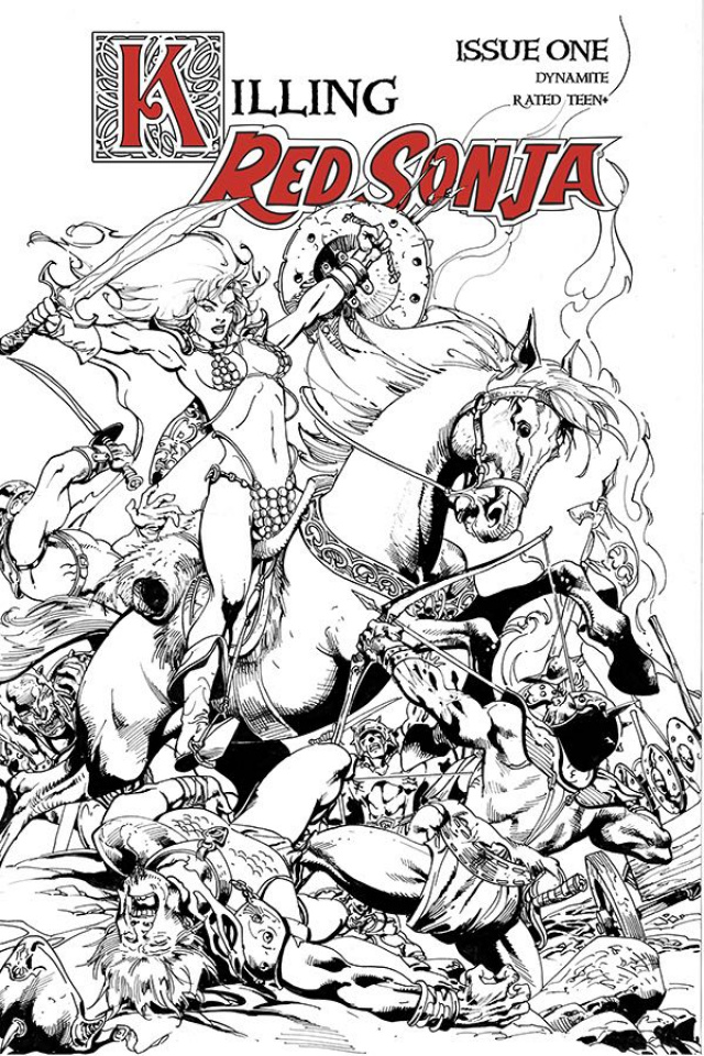 Killing Red Sonja #1 (7 Copy Castro B&W Cover)