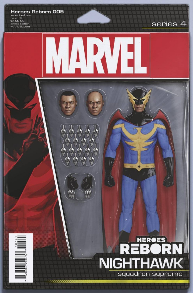 Heroes Reborn #5 (Christopher Action Figure Cover)