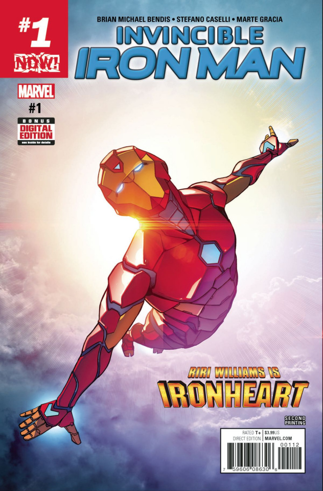 Invincible Iron Man #1 (2nd Printing Caselli Cover)