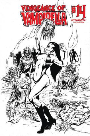 Vengeance of Vampirella #14 (11 Copy Castro B&W Cover)
