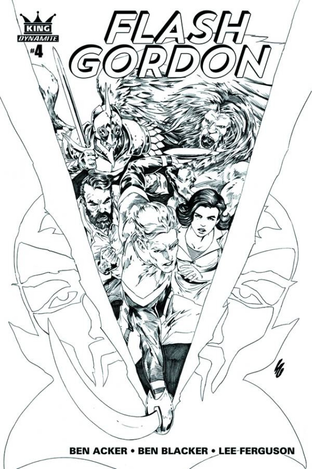 Flash Gordon #4 (10 Copy Lau B&W Cover)