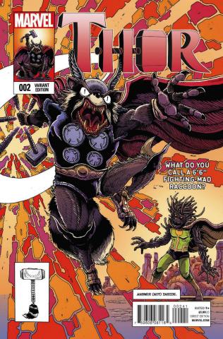 Thor #2 (Rocket Raccoon & Groot Cover)