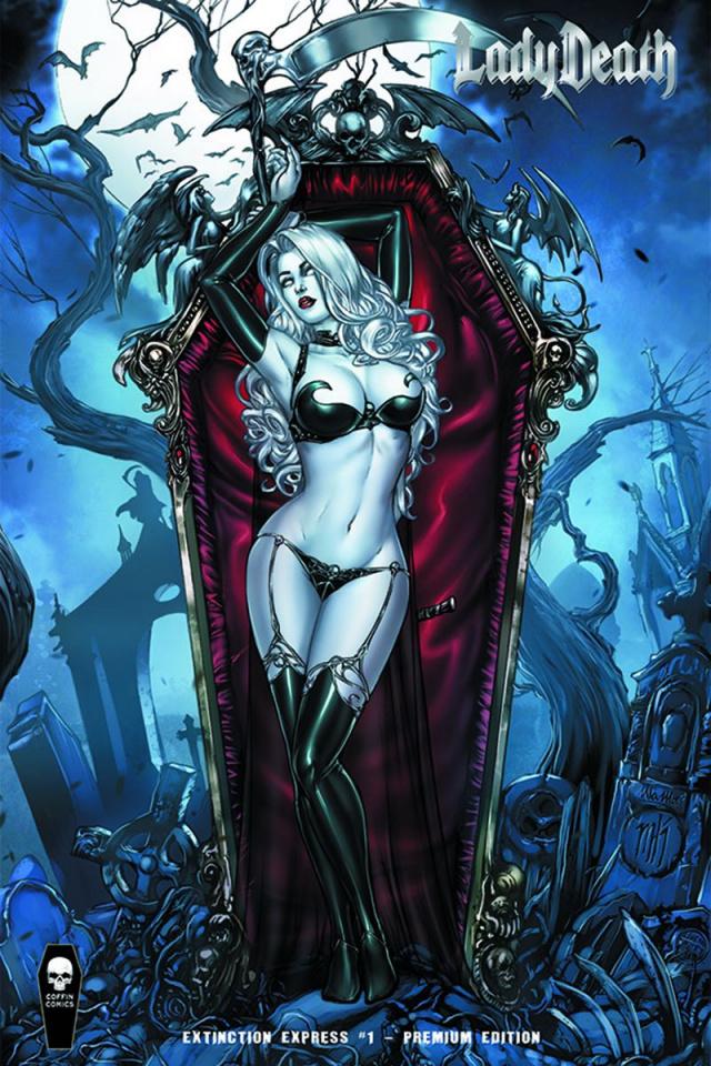 Lady Death: Extinction Express #1 (Foil Premium Cover)