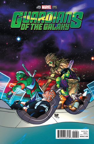 Guardians of the Galaxy #19 (Ferry Cover)