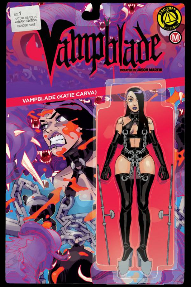 Vampblade #4 (Action Figure Cover)