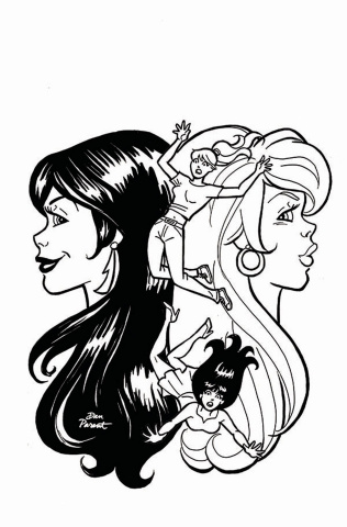 Red Sonja and Vampirella Meet Betty and Veronica #8 (11 Copy Parent B&W Cover)