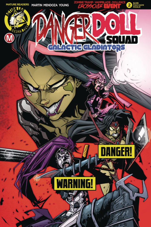 Danger Doll Squad: Galactic Gladiators #2 (Maccagni Risque Cover)