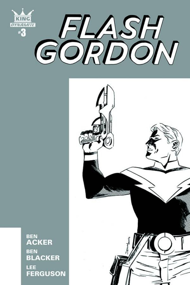 Flash Gordon #3 (10 Copy Shalvey B&W Cover)