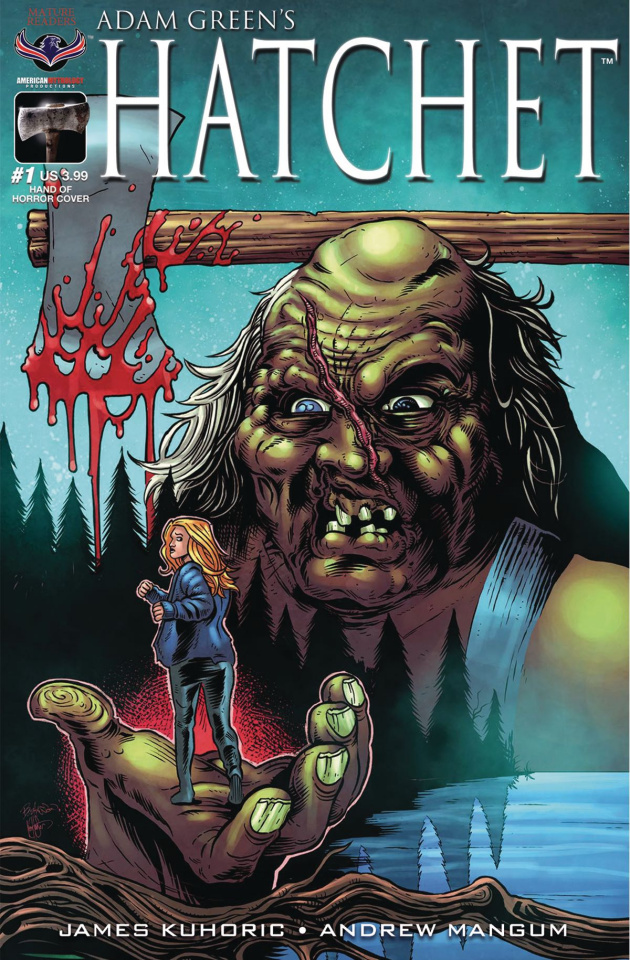 Hatchet #1 (Hasson Hand of Horror Cover)