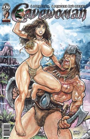 Cavewoman: A Barbarian, A Princess and Meriem (Massey Cover)