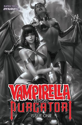 Vampirella vs. Purgatori #1 (40 Copy Chew B&W Cover)