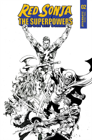 Red Sonja: The Superpowers #2 (10 Copy Lau B&W Cover)