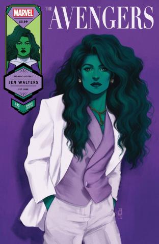 Avengers #43 (Bartel She-Hulk Womens History Month Cover)