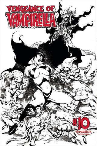 Vengeance of Vampirella #10 (11 Copy Castro B&W Cover)