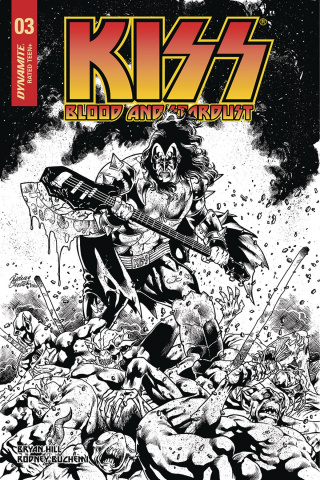 KISS: Blood and Stardust #3 (10 Copy Buchemi B&W Cover)