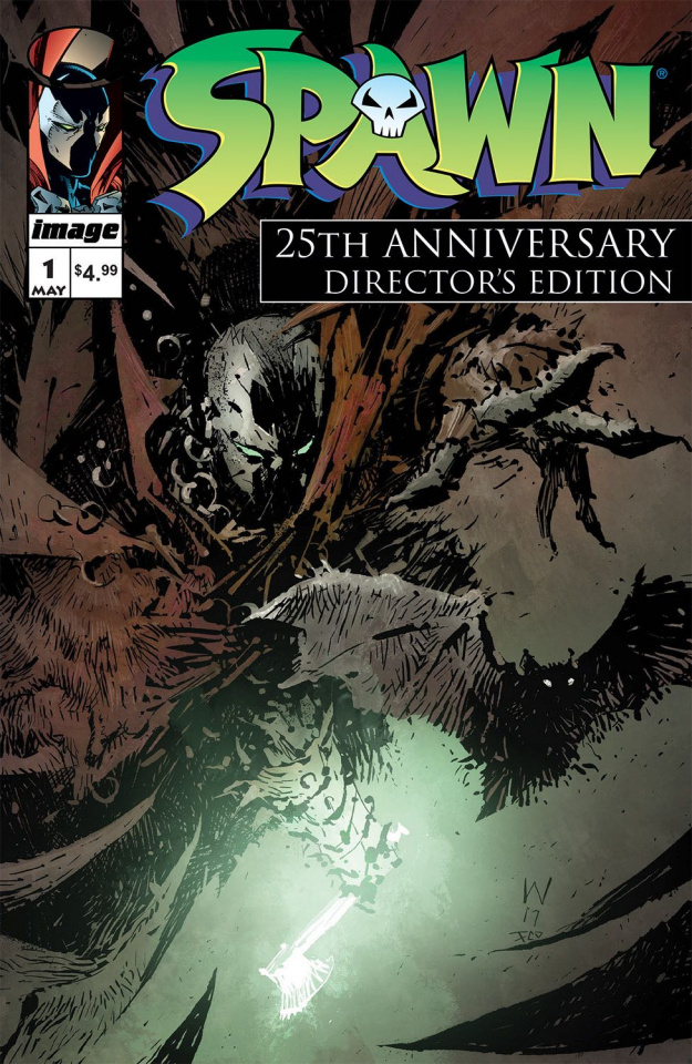 Spawn #1 (25th Anniversary Director's Cut Wood Cover)