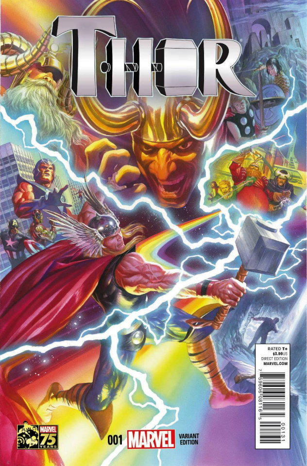 Thor #1 (Ross 75th Anniversary Cover)