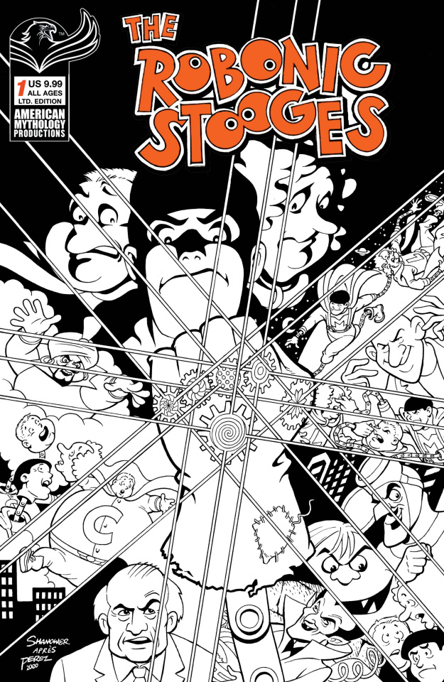 The Robonic Stooges Return #1 (B&W Cover)