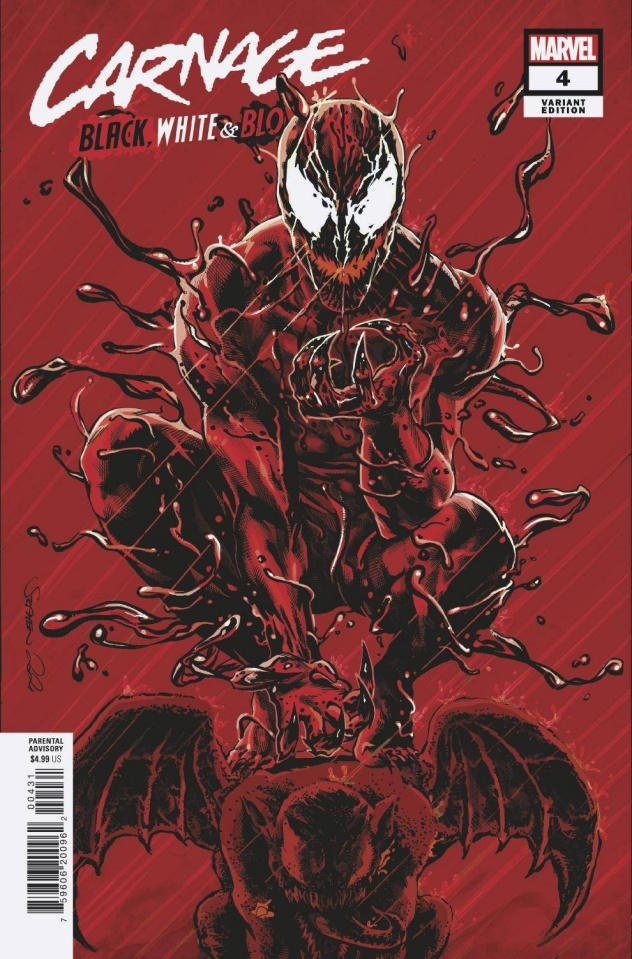 Carnage: Black, White, and Blood #4 (Mooney Cover)