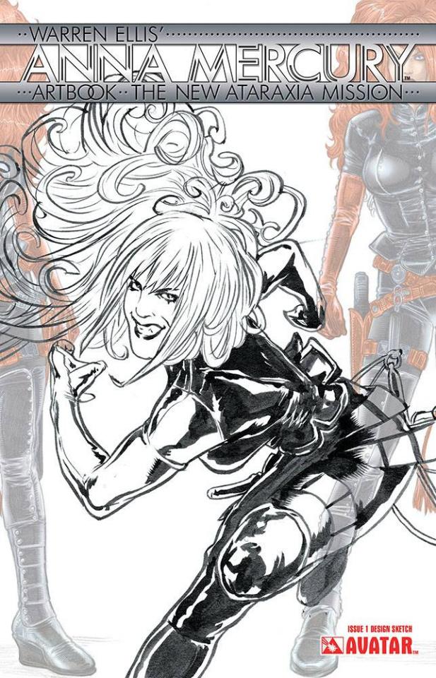 Anna Mercury Artbook (Design Sketch Cover)
