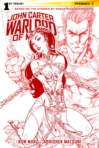 John Carter: Warlord of Mars #1 (Rare Campbell Mars Red Cover)