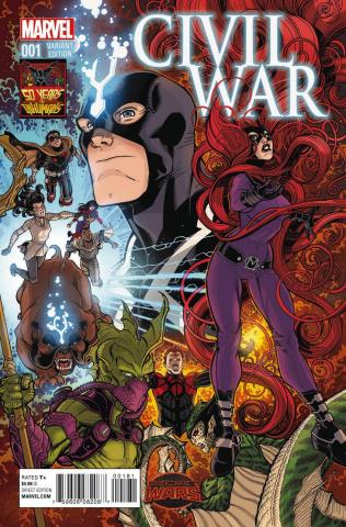 Civil War #1 (Inhumans 50th Anniversary Cover)