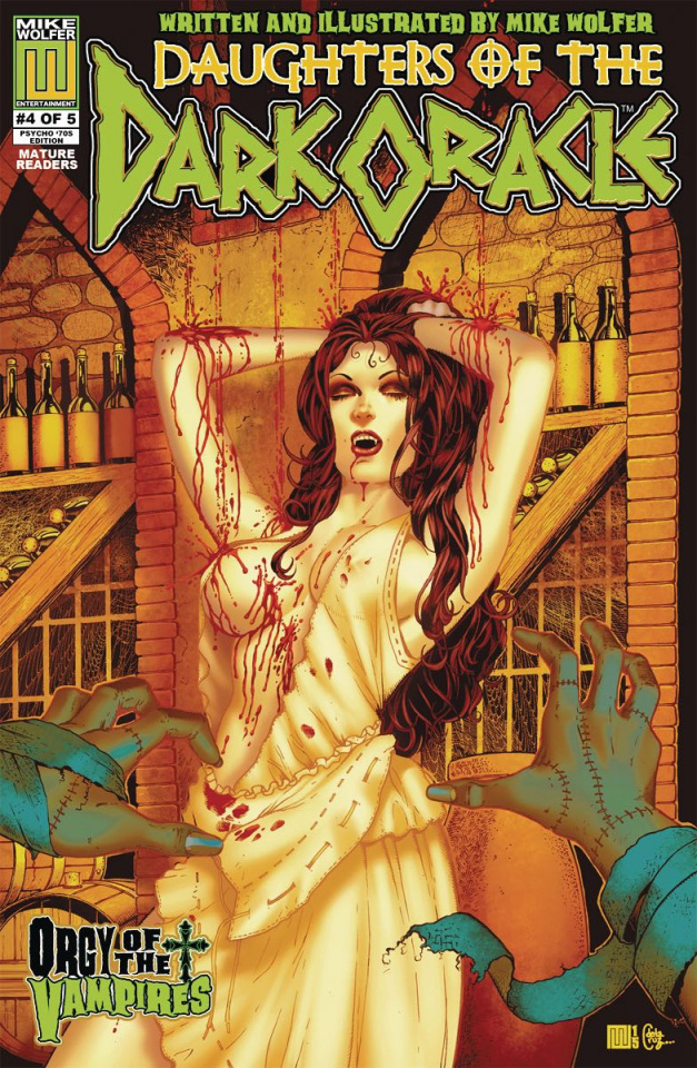 Daughters of the Dark Oracle #4 ('70s Psycho 5 Copy Cover)