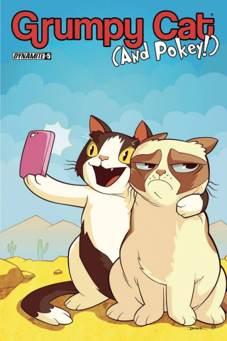 Grumpy Cat (and Pokey!) #5 (Fridolfs Cover)